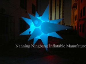 Party Decoration Inflatable Advertisement Inflatable Star with LED Light for Event