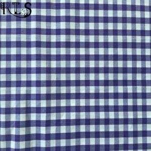 100% Cotton Poplin Woven Yarn Dyed Fabric for Shirts/Dress Rls50-2po