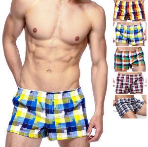 Cheap Customize Personal Brand Logo Men Woven Boxers pictures & photos