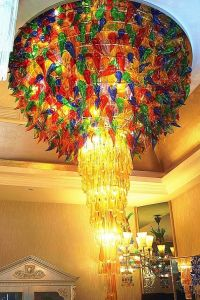 High Quality Hotel Stained Glass Ceiling Lamp (Ka224) pictures & photos
