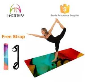Power-Grip Yoga Mat (4mm) with Personalized Design Printing Free Carry Strap Included. pictures & photos