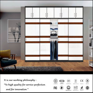 Modern Wooden Wardrobe Design with 2 Sliding Doors pictures & photos