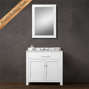Solid Wood Modern Design Ceramic Basin Vanity Bathroom Cabinet pictures & photos