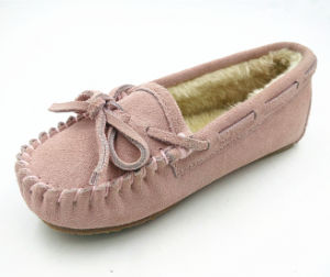 Cow Suede Kids Shoes Indoor Shoes