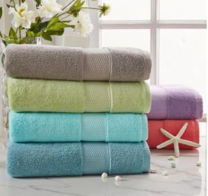 (BC-TB1002) 100% Cotton Plain-Dyed Terry Bath Towel pictures & photos
