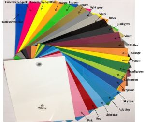 Vivid Color Heat Transfer Film PU Based Vinyl Width 50 Cm Length 25 M for All Fabric pictures & photos