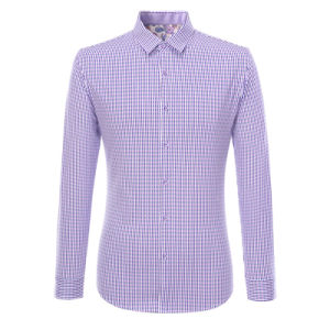 Factory OEM Long Sleeve CVC Shirt Men Fashion Casual Shirts pictures & photos