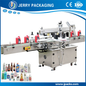Automatic Food Cosmetic Plastic & Pet Bottle Sticker Label Labeling Machine pictures & photos