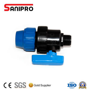 PP Ball Valve Male Male Adaptor pictures & photos