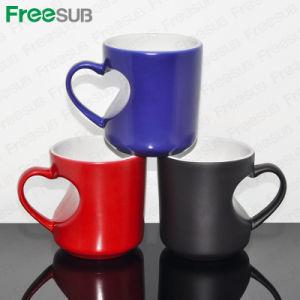 Heart Shape Ceramic Sublimation Color Changing Mug (SKB05C) pictures & photos