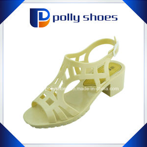 Fashion Women High Heel Stone Sandals PVC Sandals pictures & photos