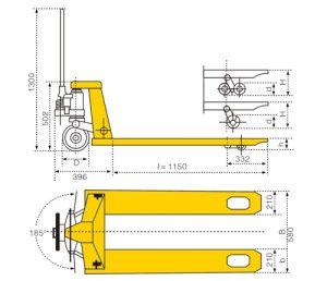 Manual Scissor Lift Pallet Truck pictures & photos
