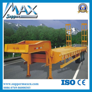 Hot Sale Flat Bed Container Chassis Trailer Skeletal Semi Trailer with Twist Locks and Hoops pictures & photos