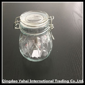 320ml Round Glass Storage Jar with Glass Lid pictures & photos