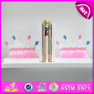 2015 Brand New Wood Crown Bookend, Wooden Sujetalibros, Cute Wooden Crown Bookend, Wooden Crown Bookend for Students W08d056 pictures & photos