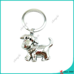 Silver Metal Dog Metal Key Chain (KC)