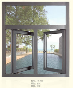 Matt Grey Aluminum Sliding Window for Residence Made in Fohan pictures & photos
