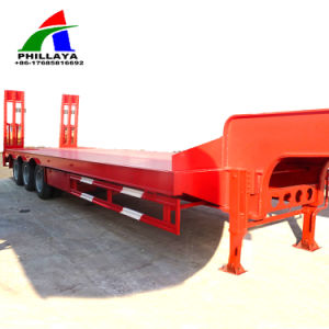 New Boat Yacht Vehicle Transport Lowbed Truck Semi Trailer pictures & photos