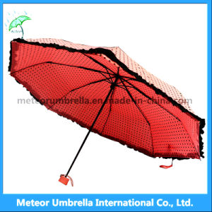 Ladies/Girls Cute Pink Colours Fold Mini Rain/Sunumbrella