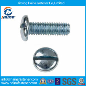 Blue Zinc Plated DIN85 Carbon Steel Slotted Pan Head Machine Screws pictures & photos