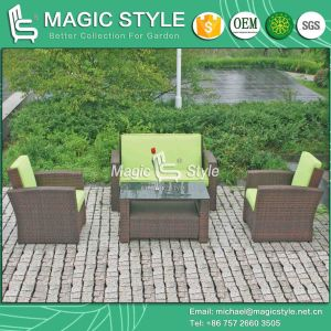 Kd Wicker Sofa Set Hot Sale Rattan Sofa Set Assembly Outdoor Sofa (Magic Style) pictures & photos