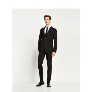 Black Cotton Prom Wedding Groom Suit for Men pictures & photos