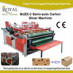 Mjzx-3 Semi-Auto Carton Gluer Machine, Folder Gluer for Different Cartons pictures & photos