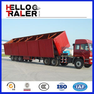 China Made 60 Ton Hydraulic Side Tipper Semi Trailer pictures & photos