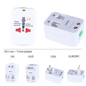 USA/UK/Aus/EUR Plug, Universal Travel Charger with Two USB