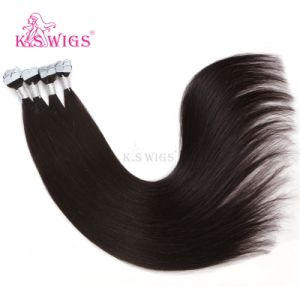 Good Quality M Shape Tape Hair Brazilian Remy Human Hair Extension pictures & photos