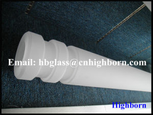 High Purity Opaque Fused Silica Quartz Glass Rod Supplier pictures & photos
