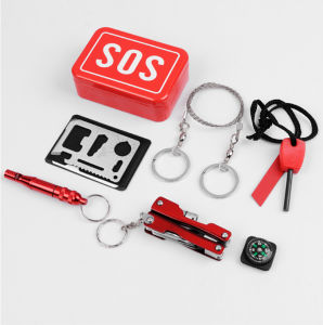 Emergency Equipment Sos Kit Car Earthquake Emergency Supplies Sos Survival Gear Outdoor Camping Survival Tool pictures & photos