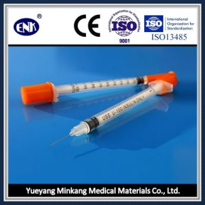 Medical Disposable Insulin Syringe, with Needle (1ml) , with Ce&ISO Approved pictures & photos