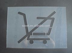 Plastic Cutout Die Cut Sheets, Cutting Board Plastic Sheet