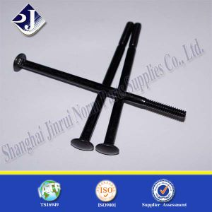 Long Carriage Bolt (Black Zinc Plated SGS) pictures & photos