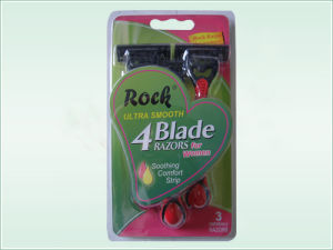 Four Blade Disposable Razor (KD-4028L) pictures & photos