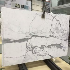 Polished Snow White Marble Slabs for Marble Countertops/Flooring/Bathroom Tiles