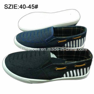 New Style Fashion Men′s Slip on Denim Shoes Casual Shoes (MP16721-8) pictures & photos