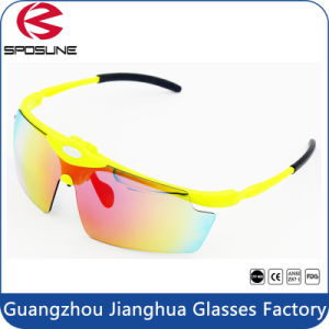 Highly Flexible Flip up Laser Safety Eye Glasses Reflective Polarized Unbreakable Interchangeable Lens Cycling Climbing Running Sunglasses pictures & photos