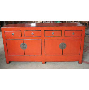 Furniture Antique Red Wooden Sideboard (LWC237) pictures & photos