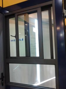 Aluminium Transverse Sliding Window with Multi-Points Lock Handle pictures & photos