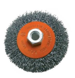 Professional Kseibi Circular Crimped Wire Wheel Brushes with Nut pictures & photos