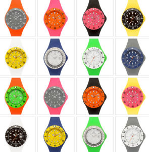 Wholesale Colorful Changeabole Face Silicone Wristband Jelly Watch pictures & photos