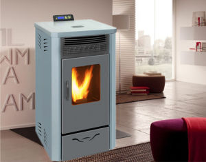 Indoor Using Pellet Stove with Remote Control and Double Black Glass Door pictures & photos