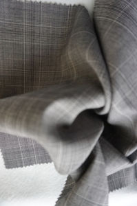 Check Tweed Wool Fabric of 100% Wool