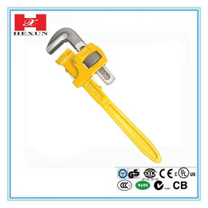Heavy Duty Pipe Wrench with Dipped Handle pictures & photos