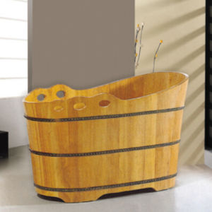 Beauty Parlor Using Style Wooden Bath Tub (NJ-019) pictures & photos