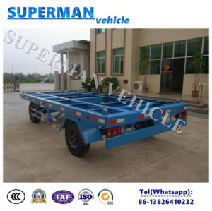 20FT Utility Flatbed Container Transport Industrial Drawbar Trailer for Port Use pictures & photos
