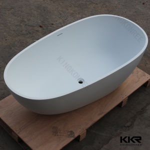 Wholesale Free Standing Solid Surface Resin Stone Bathtub pictures & photos