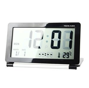 LCD Digital Screen Mini Foldable Travel Alarm Clock pictures & photos